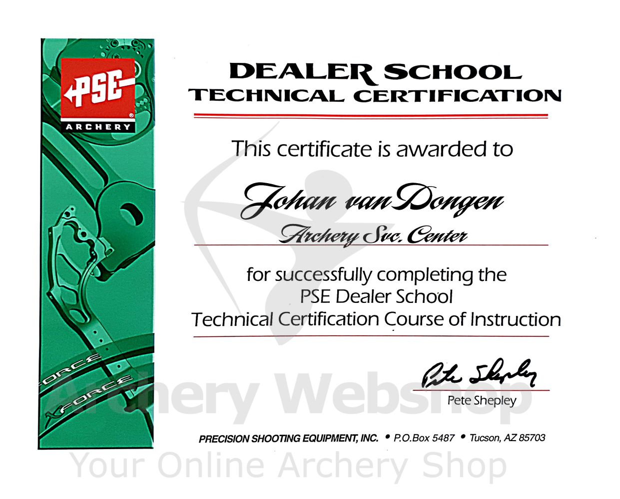 PSE Dealeschool Technical Certification
