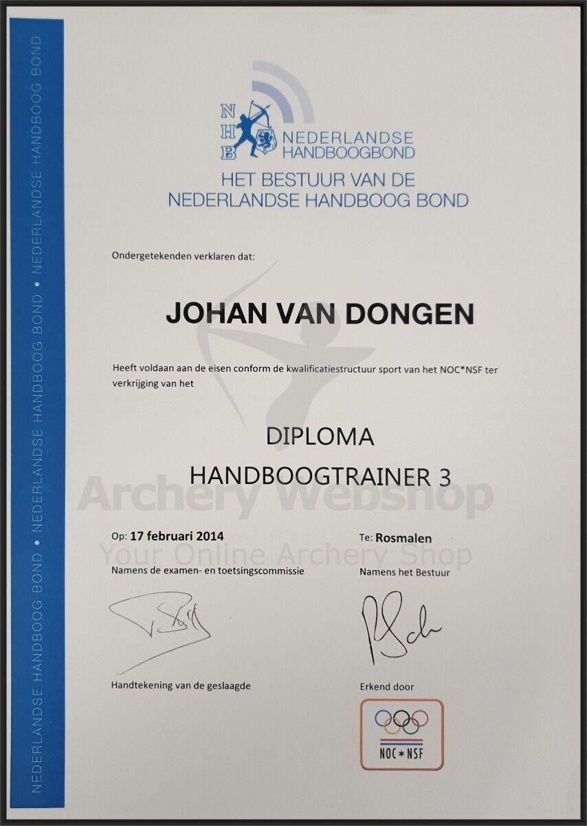 trainer level 3 Johan van Dongen