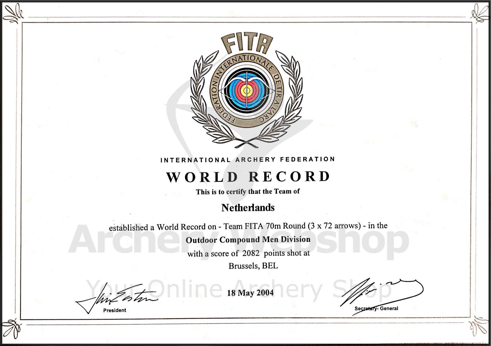 World Record Johan van Dongen