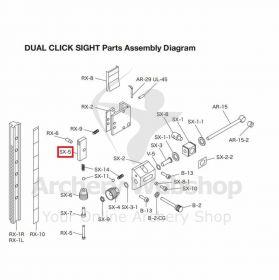 Shibuya Dual Click Sight Parts SX-5 Release Lever