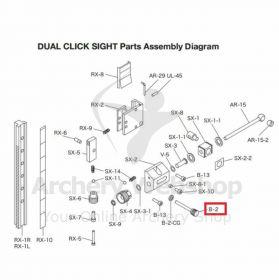 Shibuya Dual Click Sight Parts B-2 Lock Down Knob