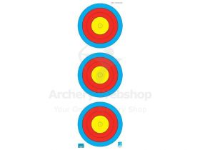 JVD Target Face Fita 3x20 cm Vertical Compound Woven Paper