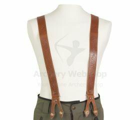 Strele Suspenders Light Brown with Archery Markings
