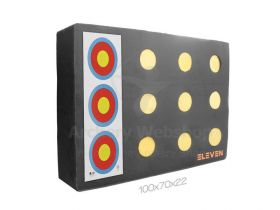 Eleven Plus Target 70 x 100 x 20cm with 12 - 9.5 cm Inserts
