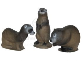 3Di Family Pack Mink Muskrat and Prairie Dog