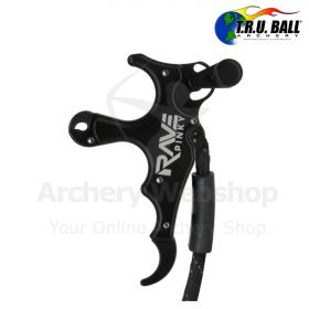 TRU Ball Release Rave Pinky 3 Finger with Lanyard Black