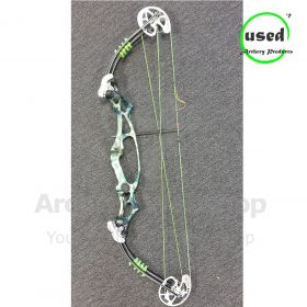 Used Hoyt Proelite RH Green Fusion 50-60# base cam 7 30-33 inch