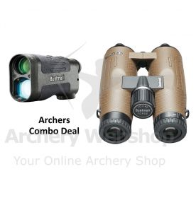 Bushnell Rangefinder Prime 1700 & Binoculars Forge 10x42 Archery Field & 3D Set