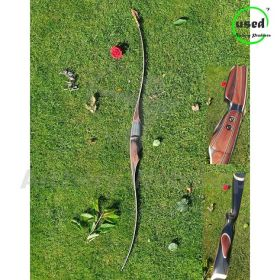 Used Traditional Long Bow RH Toelke 2 Piece Long Bow 45Lbs -underresarch-