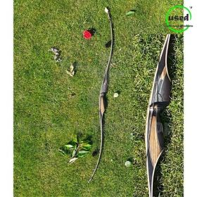 Used Traditional Long Bow RH Toelke 1 Piece Long Bow 45Lbs -underresarch-