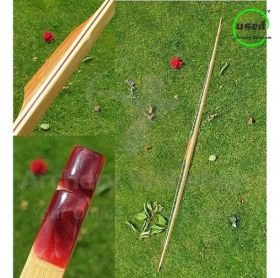 "Used Traditional Long Bow DB Bows ""Special"" Red 71 Inch 26 Lbs"