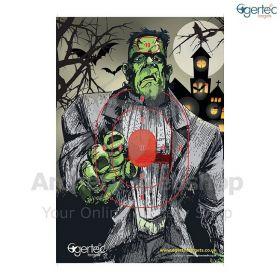 Egertec Halloween Target Face Frankenstein