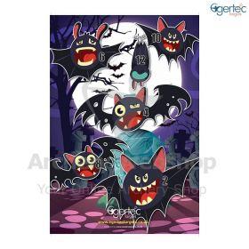 Egertec Halloween Target Face Vampire Bats