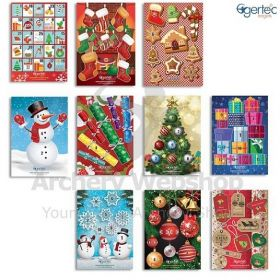 Egertec Christmas Target Face Bulk Pack with 50 Face Pins