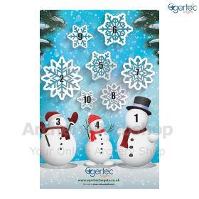 Egertec Christmas Target Face 3 Snowmen