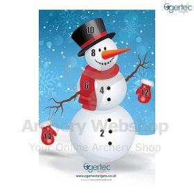 Egertec Christmas Target Face Snowman