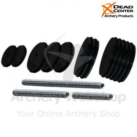 Dead Center Custom Balance Weight Kit - 6oz,  3oz,  1oz, 1/2oz with Threaded rods