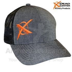 Dead Center X Logo Hat Gray Black Mesh