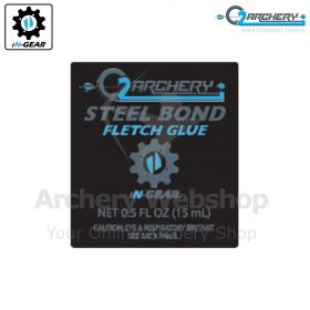 Q2i Archery Steel Bond Fletch Glue 0.5 Oz