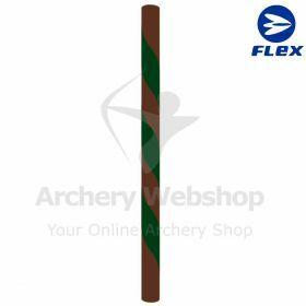 "Flex Bowstring Long Bow Flemisch ""Forest"" Brown & Dark Green"