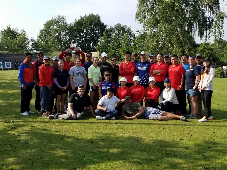 Team USA and Team China together